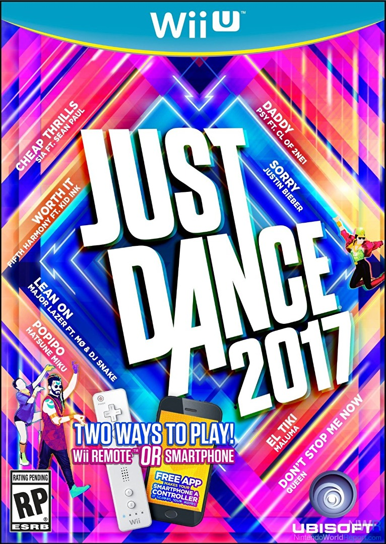 Just Dance 2017 Wii U game cover